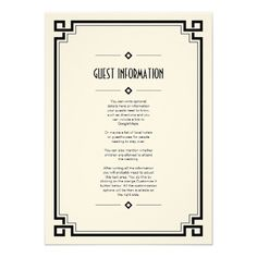 See MoreElegant Black Frame Art Deco Wedding Insert Cardlowest price for you. In addition you can compare price with another store and read helpful reviews. Buy