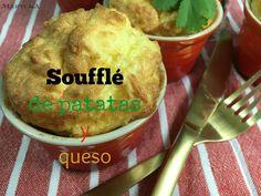 Soufflé de patatas y queso. Guarnición digna de un chef :)