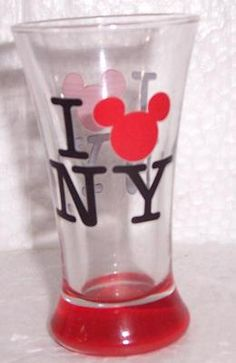 Disney I Love Mickey Mouse In New York Slender Collectible Shot Glass  $12.34 www.jaxsprats.com