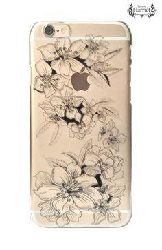 iPhone 6 clear printed case - Black Twine