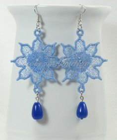FSL Free standing lace embroidery earrings flower 2 digital file instant download - pinned by pin4etsy.com