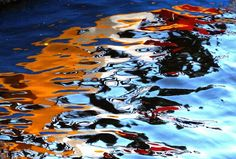 Water art: Boat reflections by peggyhr, via Flickr