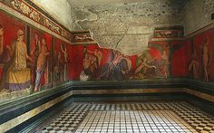 *POMPEII, ITALY ~ The Villa dei Misteri was built in the 2nd century BC in the suburban area. The crown jewel of the ancient city of Pompeii restored