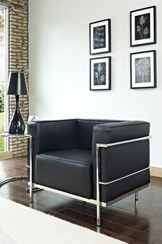 Le Corbusier LC3, still a very popular style of chair, originally designed in and for the art deco period.