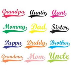 When do you put capital letters on mum, dad, sister, mother etc?