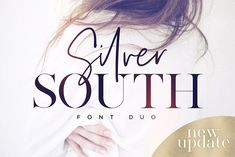 Introducing the Silver South Font Duo, a classy, contemporary pair of script and serif fonts. With a stylish didot-style serif font and a free-flowing, expressive script companion, Silver South offers beautiful typographic harmony for a diversity of desig Web Design, Visual Design, Font Design, Design Typography, Poster Design, Typography Fonts, Graphic Design, Brand Design, Vector Design