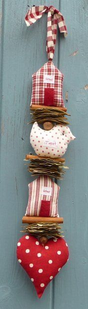 Christmas Craft Idea - looks like cardboard and cinnamon sticks. Easy enough to make patterns and so cute!