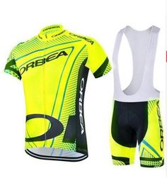 683302443 Quick Dry Outdoor Men Team Cycling Bike Short Sleeve Jersey Shorts Set GEL  Pad  Unbranded