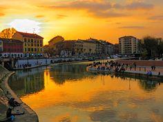 Tramonto mozzafiato alla Darsena Foto di Ferry V. #milanodavedere Milano da Vedere