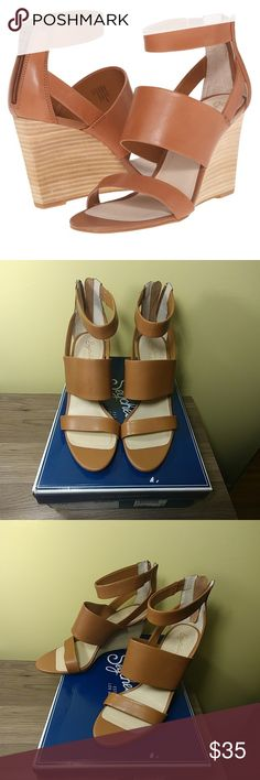 Seychelles Sauve Sandals Never worn, tan leather wedge sandals with box. Back zipper closure. 3 1/2 inch heel height. These are the perfect summer wedges! 🌻 Seychelles Shoes Sandals