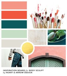 Coral, mint, and teal color inspiration board Spring Color Palette, Color Palettes, Color Inspiration, Inspiration Boards, Seasonal Color Analysis, Branding Design, Branding Ideas, Color Collage, Arrow Design