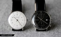 Junghans Max Bill Silver Dial Ref. 3500 and Max Bill Chronoscope