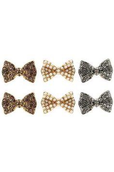 Graceful Bowknot Earrings [AE1033] - $11.99 :
