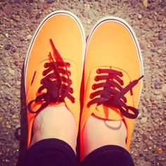 Neon Vans-ill take these in yellow and cheetah! Neon Vans, Winter Layers, Orange, Yellow, Cheetah, Lust, Naked, Therapy, Hipster