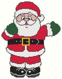 Father Christmas cross stitch pattern - FREE #onselz