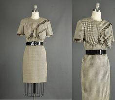 Vintage 1980s Dress 80s Dress wiggle by NodtoModvintage on Etsy, $64.00