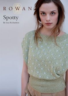 Spotty Top Retro Knitting Pattern