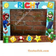 Mario Bros Marco para foto