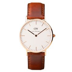 Classic St Andrews Ladies with brown leather strap and rose gold case