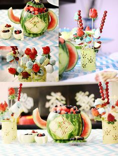 carved fruits