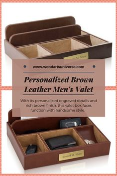 Organized And Within Reach This Engraved Leather Organizer Valet Is The Ultimate Custom Gift To Your Father Male Colleague Boss Groomsman Etc
