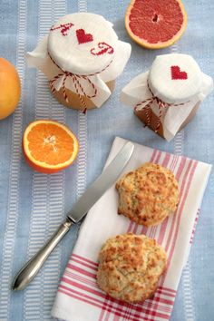 Orange Curd and Scones