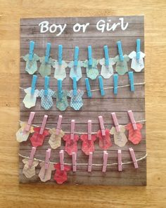 Gender reveal party ideas | Boy or Girl voting board | Name suggestions
