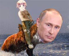 """PRIVET! I AM JUST A NORMAL RUSSIAN RUSHIN' TO WORK ON MY PET GRIZZLY SHARK! HIS NAME IS FUZZY PUTIN SHARK, BUT I LIKE TO CALL HIM FUTINARKY~ GET IT? IT'S FUZZY AND PUTIN AND SHARKY COMBINED! HEHEHEHEHEHEHE~ I AM FUNNY, DA?"""