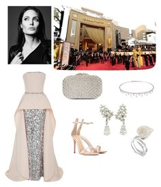 """""""red carpet"""" by megakus on Polyvore featuring Elizabeth Kennedy, Glint, Suzanne Kalan and Gianvito Rossi"""