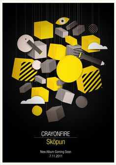 Crayonfire Promotional Poster by Neil Stevens, via Behance