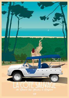 Road Trip Photography, Beach Illustration, Vintage Art Prints, Cinemagraph, City Landscape, Vintage Travel Posters, Vintage Images, Surfing, Pictures