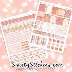 Rose Gold Planner Stickers Weekly Kit / Erin par SweetyStickers