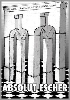 Escher (D) - PC-Graphic by basslappingmongrel