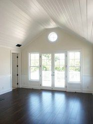 Simple unadorned room. Inspired now for the attic space. yeah!