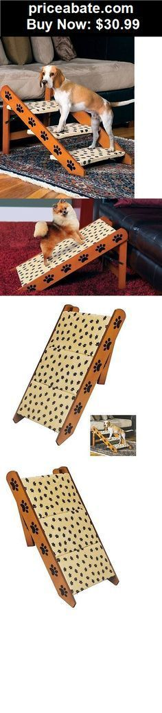 Animals-Dog: Convertible Cat Dog Pet Bed Couch Steps Ramp Stairs 3 Wood Folding Portable NIB - BUY IT NOW ONLY $30.99