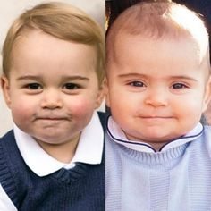 Side by side picture shows Prince George and Prince Louis like you've never seen before - Princesa Charlotte, Princesa Kate, Lady Diana, Prince William Family, Prince William And Catherine, Duke William, Prince And Princess, Royal Prince, Prince Harry