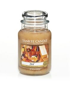 Yankee Man Candles - this one smells like a 2x4!