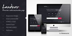 Site Templates - Landover - Responsive Coming Soon Page | ThemeForest