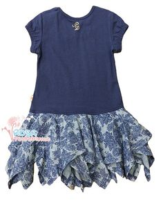 Pezzo Doro Kleid flower maritim - blue