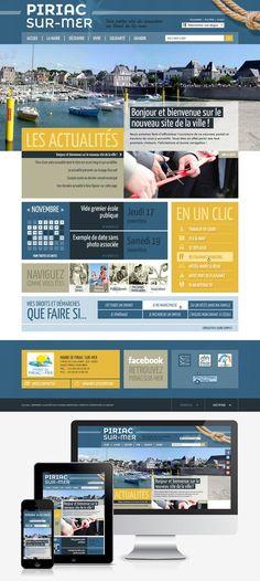 Création du nouveau site web de la mairie de Piriac-sur-Mer (44) : #Webdesign #Responsive #Mairie #Ville #Colterr : www.piriac-sur-mer.fr