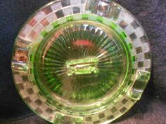 Ashtray/Depression Glass/Atlas/1929 by MermaidMemoirs on Etsy