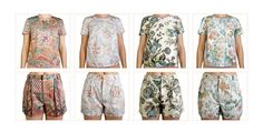 Tshirts and shorts made out of old curtains in Netherlands