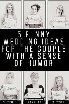 Who says  weddings have to be conservative and serious? If you're a couple with a sense  of humor, then your wedding should definitely reflect that. Ofcourse you can  have funny wedding vows but If having funny wedding vows is not enough for  you, check out these 5 funny wedding ideas.