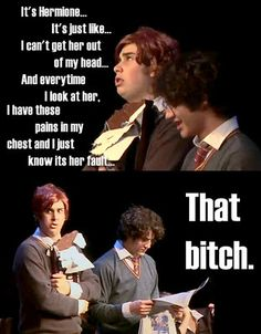 Starkid, A Very Harry Potter Musical. Joey Richter and Darren Criss Harry Potter Musical, Harry Potter Love, Harry Potter Memes, Must Be A Weasley, Ron Weasley, Avpm, Superwholock, Team Starkid, The Rocky Horror Picture Show