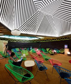 Red Bull Music Academy temporary venue space in Madrid designed by Langarita Navarro Architects