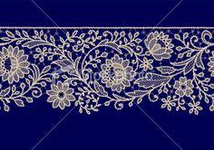 Seamless Pattern Lace Ribbon Royalty Free Stock Vector Art Illustration