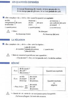 expression de la quantité Core French, French Class, French Lessons, French Teacher, Teaching French, Language Study, French Language, French Revision, French Basics