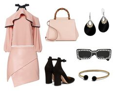 """Pink & Black"" by stacyco ❤ liked on Polyvore featuring Michelle Mason, Alexis, Gianvito Rossi, Gucci, David Yurman and John Hardy"