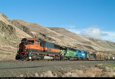 RailPictures.Net Photo: BNSF 9297 BNSF Railway EMD SD60M at Avery, Washington by Indecline