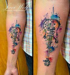 tattoo en antebrazo de guitarra - Buscar con Google